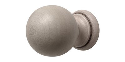 45MM MODERN COUNTRY BALL FINIAL BRUSHED IVORY