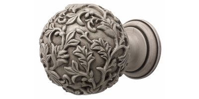 45MM MODERN COUNTRY FLORAL BALL BRUSHED IVORY