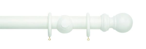 Rolls Woodline Ball 50mm Wood Curtain Pole