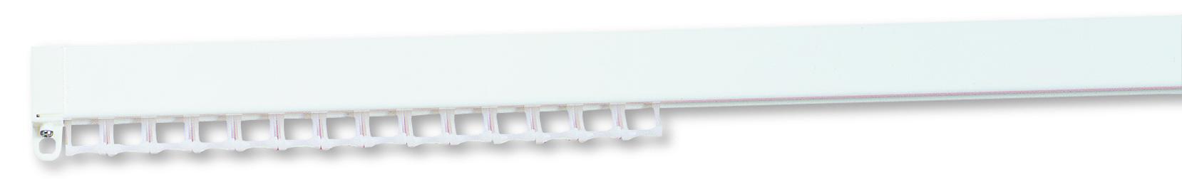 Silent Gliss System 1280 White Aluminium Curtain Track