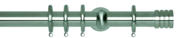 Rolls Neo Metal Curtain Pole 28mm Stud