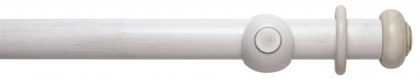Rolls Modern Country Button 55mm Wood Curtain Pole