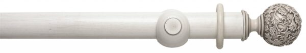 Rolls Modern Country Floral Ball 55mm Wood Curtain Pole