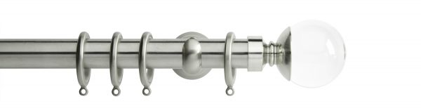 Rolls Neo Metal Curtain Pole 28mm Clear Ball