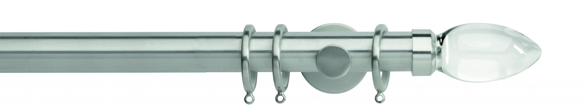 Rolls Neo Metal Curtain Pole 35mm Clear Teardrop