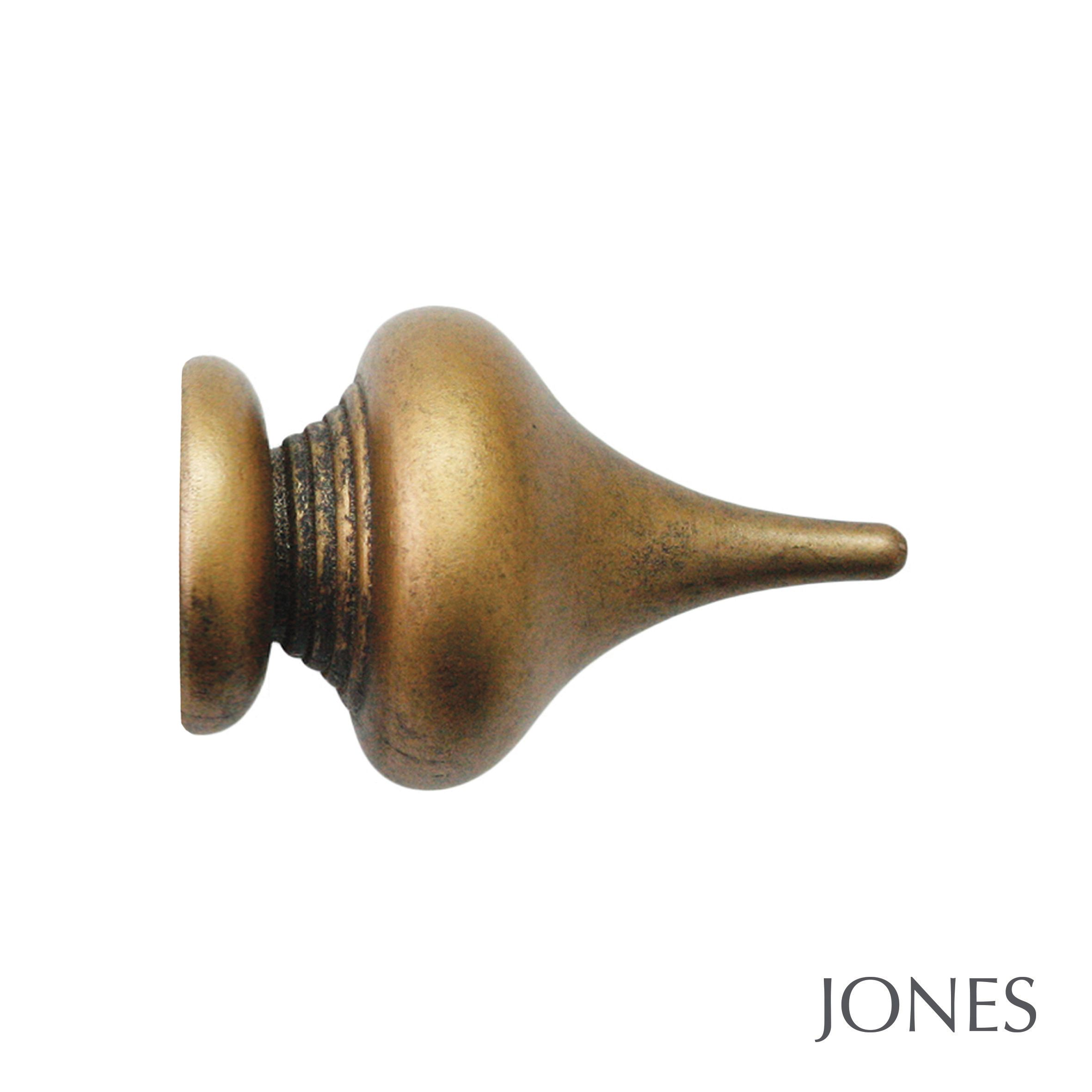 50mm Jones Florentine Minaret Finial antique gold