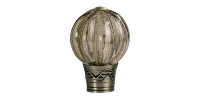 35MM GALLERIA SMOKED GLASS PUMPKIN FINIAL