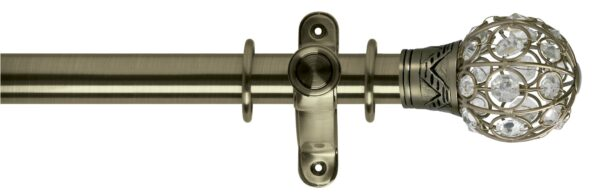 Galleria Metals 35mm Curtain Pole Jewelled Cage