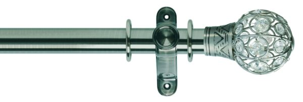 Galleria 35mm Metal Curtain Pole Jewelled Cage