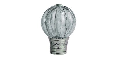 35MM GALLERIA CRACKED GLASS PUMPKIN BRUSHED SILVER