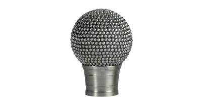 50MM GALLERIA RAISED STUD FINIAL BRUSHED SILVER