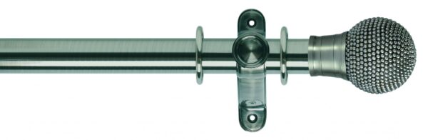 Galleria Metals 50mm Curtain Pole Raised Stud
