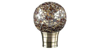 35MM GALLERIA GOLD MOSAIC BALL FINIAL