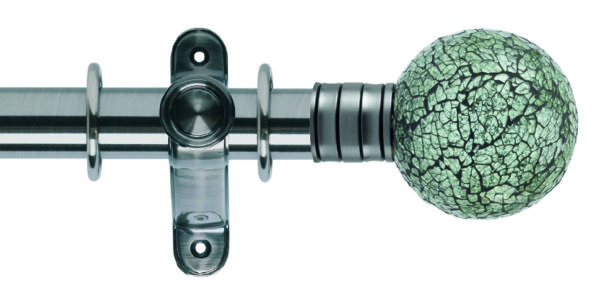 Galleria 35mm Metal Curtain Pole Mosaic Glass Ball