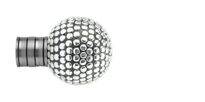 35mm Galleria Shiny Studded Ball Finial
