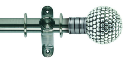 Galleria 35mm Metal Curtain Pole Shiny Studded Ball