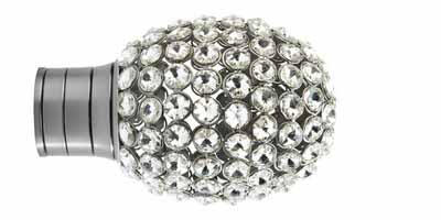 35mm Galleria Clear Jewelled Bulb Finial
