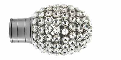 35mm Galleria Clear Jewelled Bulb Finial