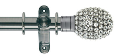 Galleria 35mm Metal Curtain Pole Clear Jewelled Bulb