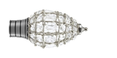 35mm Galleria Jewelled Cage Teardrop Finial