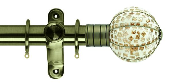 Galleria Metals 35mm Curtain Pole Mosaic Pumpkin