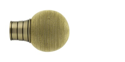 35mm Galleria Beaded Ball FinialBurnished brass