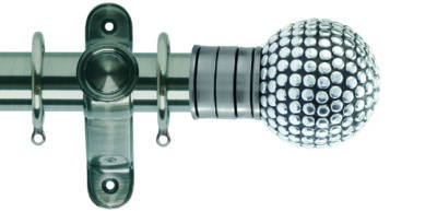 Galleria Metals 50mm Curtain Pole Shiny Studded Ball