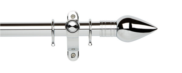 Galleria Metals 35mm Curtain Pole Teardrop With Rings Chrome