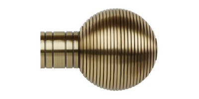 35MM GALLERIA RIBBED BALL SPUN BRASS