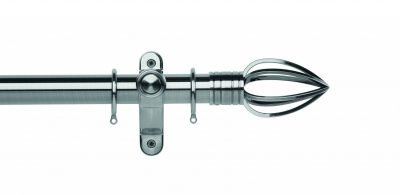 Galleria Metals 50mm Curtain Pole Caged Spear