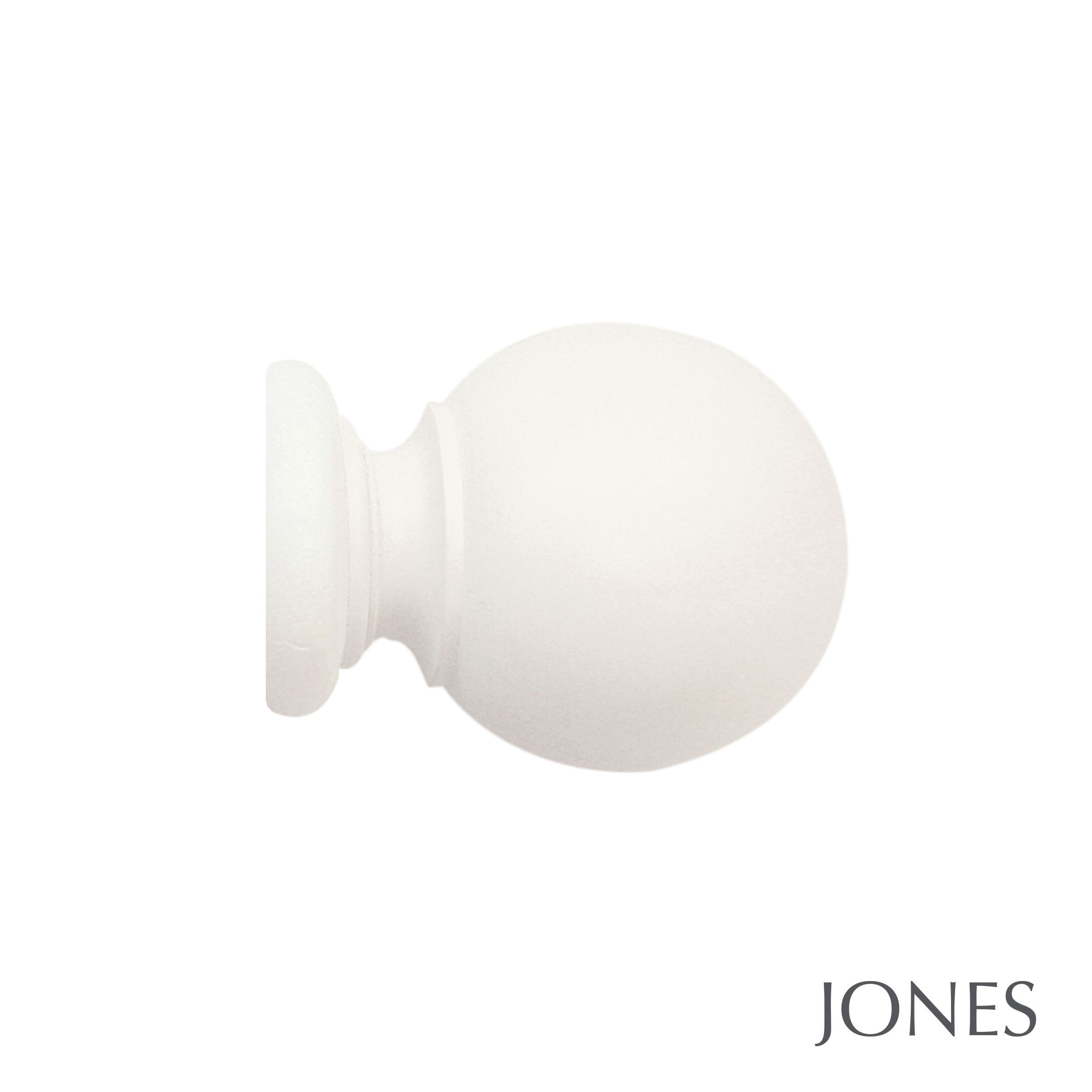 30mm Jones Cathedral Ball Finial Cotton