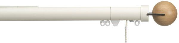 Silent Gliss 30mm Metropole Corded Fused Ball Oak
