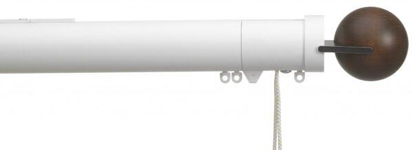 Silent Gliss 50mm Metropole Corded Fused Ball Walnut