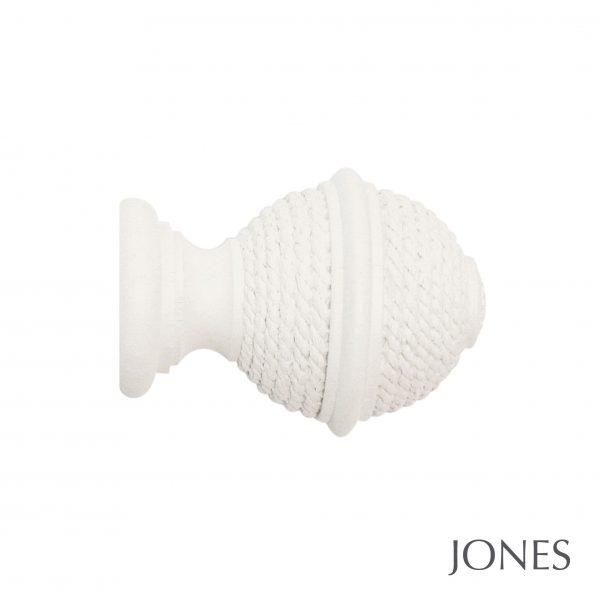 40mm Jones Hardwick Woven Rope Finial cotton