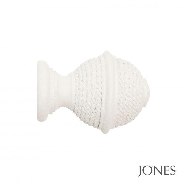 40mm Jones Seychelles Woven Rope Finial cotton