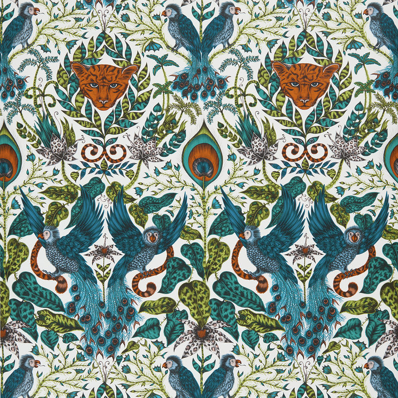 Emma J Shipley Wallpaper Amazon Jungle Swatch