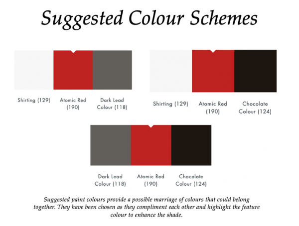 Atomic Red (190)_Little Greene Suggested Colour Scheme