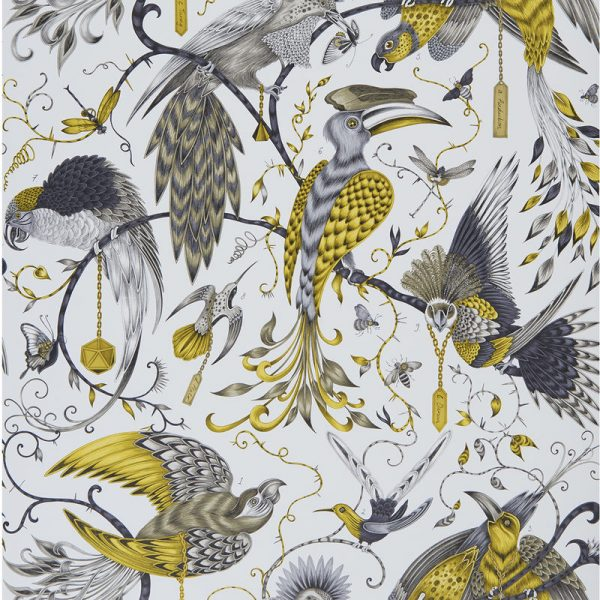 Emma J Shipley Wallpaper Audubon Gold Swatch