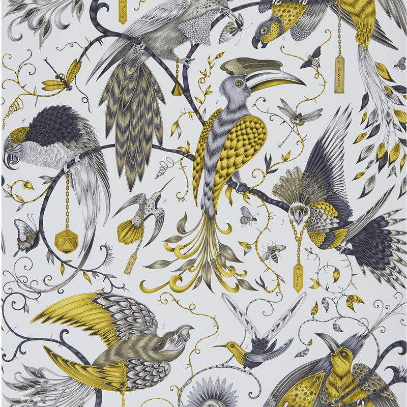 Emma J Shipley Wallpaper Audubon Gold Swatch