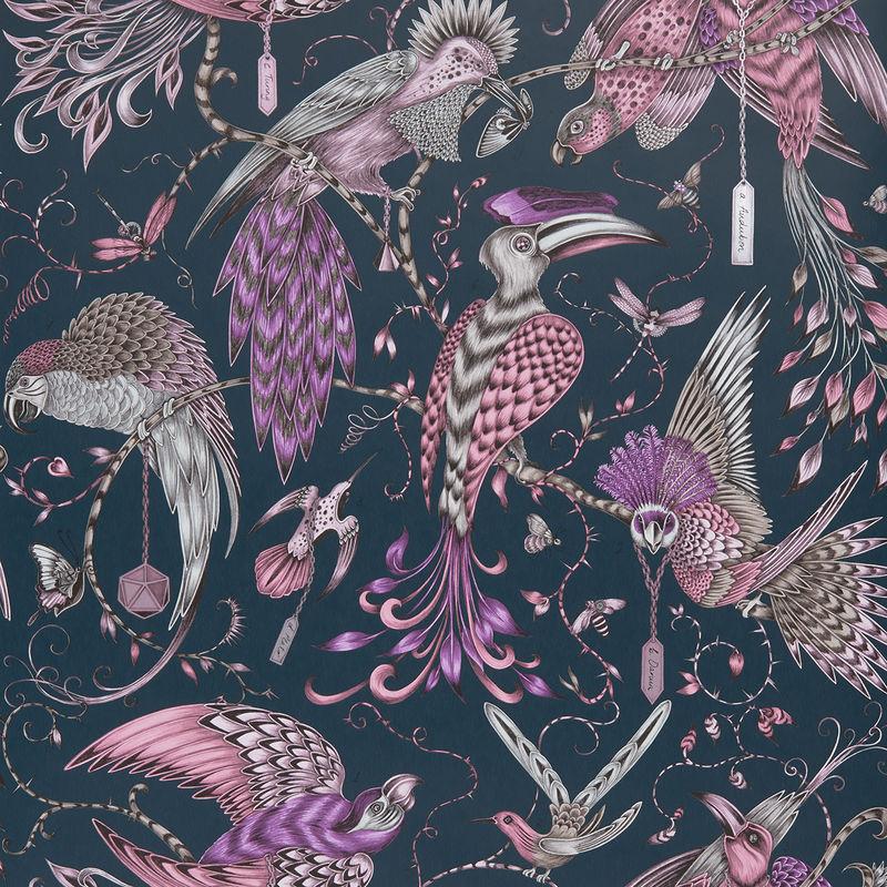 Emma J Shipley Wallpaper Audubon Pink Swatch