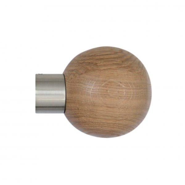 28mm Jones Lunar Oak Sphere Finial