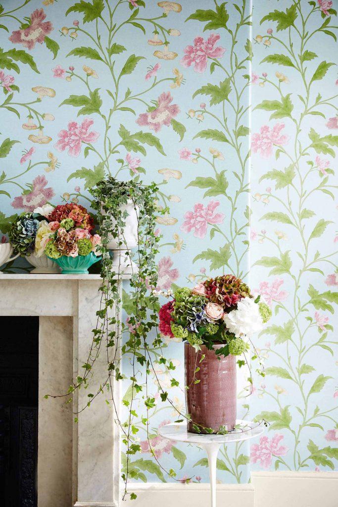 Little Greene China Rose Wallpaper