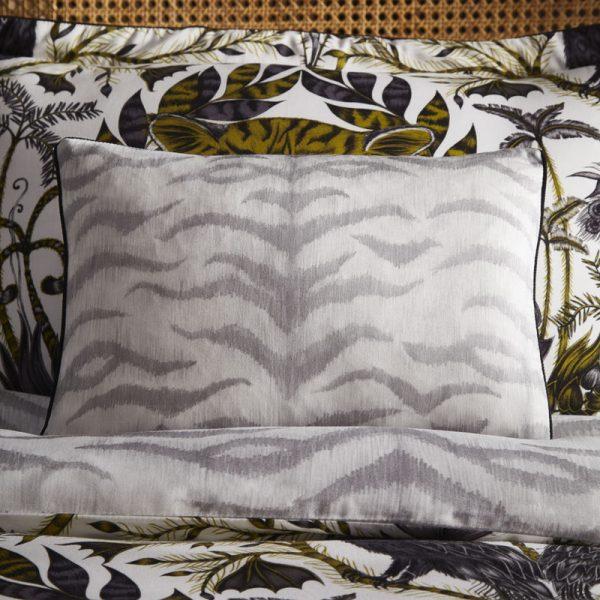 Emma J Shipley for Clarke & Clarke Amazon Boudoir Pillowcase Grey