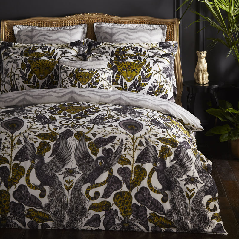 Emma J Shipley for Clarke & Clarke Amazon Duvet Gold