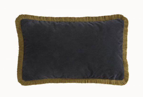Emma J Shipley for Clarke & Clarke Amazon Rectangular Cushion Charcoal reverse
