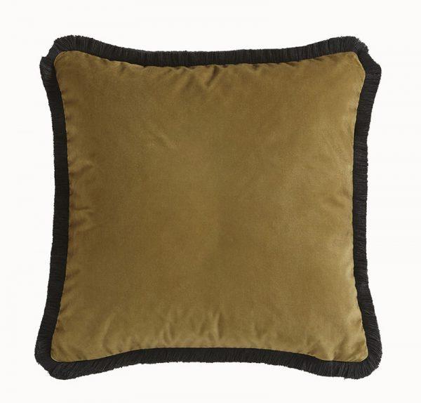 Emma J Shipley for Clarke & Clarke Amazon Square Cushion Gold reverse