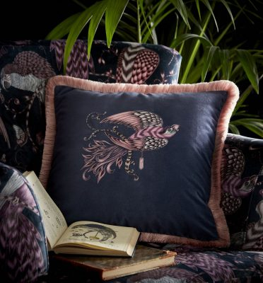 Emma J Shipley for Clarke & Clarke Audobon Square Cushion Navy