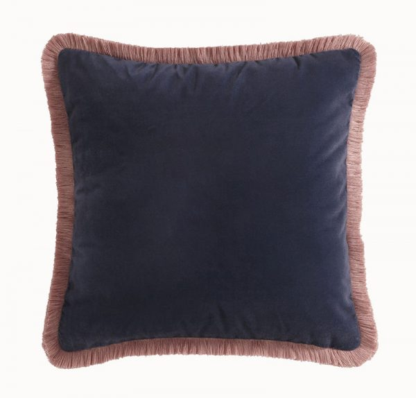 Emma J Shipley for Clarke & Clarke Audobon Square Cushion Navy reverse