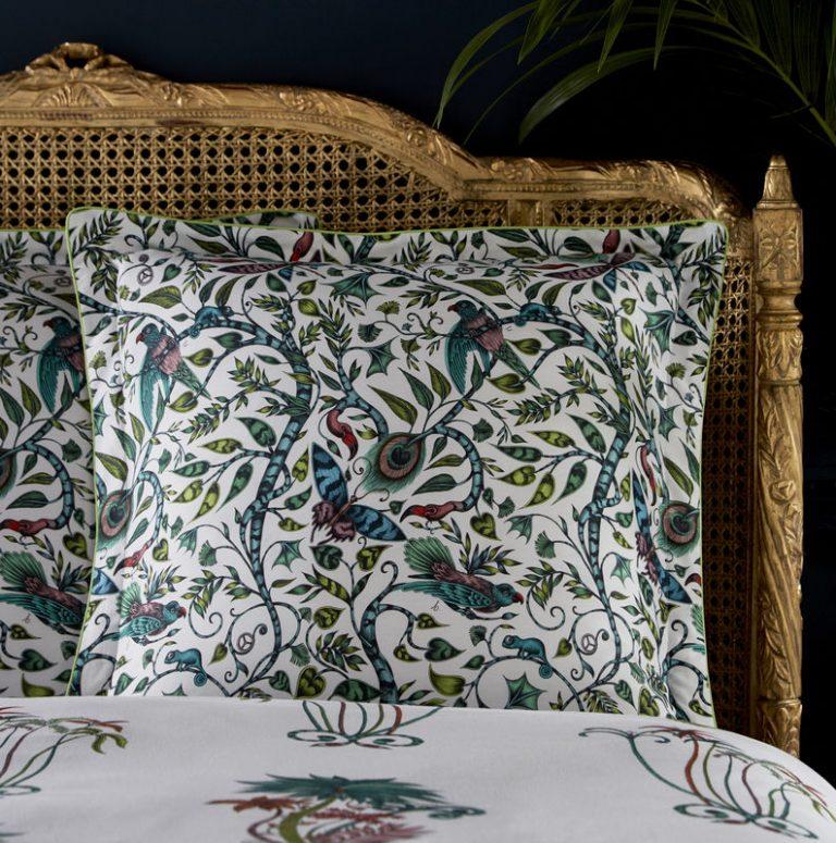Emma J Shipley for Clarke & Clarke Jungle Palms Square Oxford Pillowcase Jungle