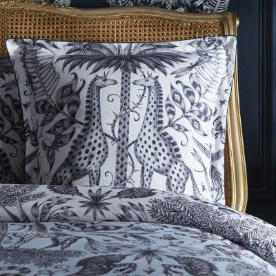 Emma J Shipley for Clarke & Clarke Kruger Square Oxford Pillowcase Eggshell